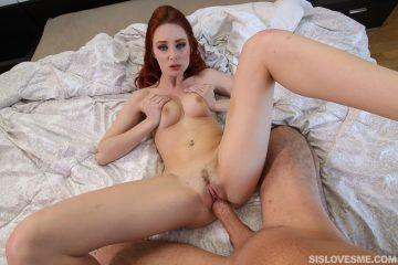 Hot redhead Lacy Lennon gets nailed hard